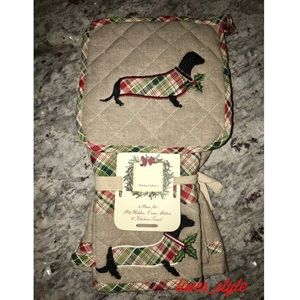 RIDGEFIELD DACHSHUND TOWEL OVEN MITT POT HOLDER